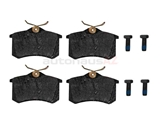 1H0698451F Pagid Brake Pad Set; Rear; Mexico OE Compound