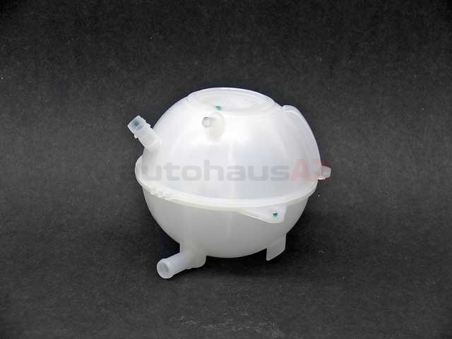 1J0121407F Genuine VW/Audi Expansion Tank/Coolant Reservoir; With Level Sensor