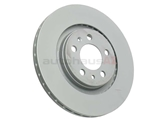 1J0615301M Zimmermann Coat Z Disc Brake Rotor; Front; Vented 280x22mm