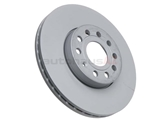 1K0615301T Zimmermann Coat Z Disc Brake Rotor; Front ; Vented 288x25mm