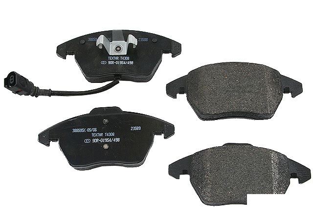 1K0698151E Textar Brake Pad Set; Front with Wear Indicator; OE Supplier Compound