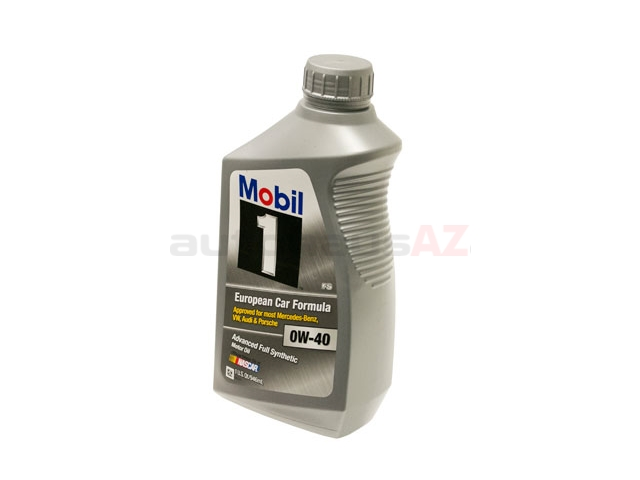 1M-112628 Mobil 1 Engine Oil; European Car Formula FS; 0W-40 Synthetic; 1 Quart