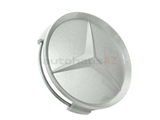 2014000425 Genuine Mercedes Wheel Center Cap/Emblem; Grey Painted Plastic for Alloy Wheel; 70mm (3 Inch) Diameter