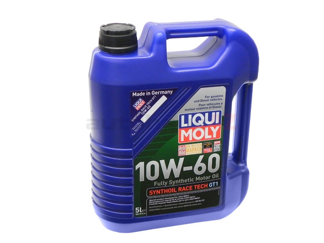 2024 Liqui Moly Synthoil Race Tech GT1 Engine Oil; 10W-60 Synthetic; 5 Liter