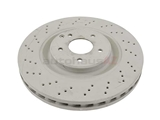 2034210912OE Genuine Mercedes Disc Brake Rotor; Front; 345mm Cross-Drilled