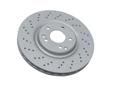 2034211312 ATE Coated Disc Brake Rotor; Front; Vented 330mm Cross-Drilled