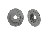 2044210912OE Genuine Mercedes Disc Brake Rotor; Front; Cross-Drilled
