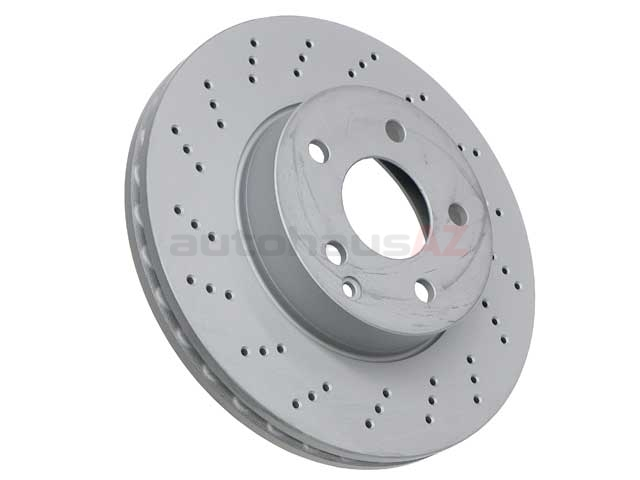 2044212812 Zimmermann Coat Z Disc Brake Rotor; Front ; Cross-Drilled 295x28mm