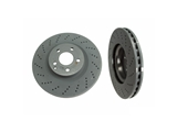 2074210012 Genuine Mercedes Disc Brake Rotor; Front; Cross-Drilled