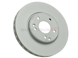 2104212212 Zimmermann Coat Z Disc Brake Rotor; Front; 300mm Vented