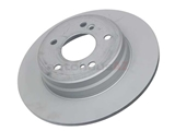 2104230412 Zimmermann Coat Z Disc Brake Rotor; Rear; Solid 275x9mm