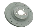 2114231012OE Genuine Mercedes Disc Brake Rotor; Rear