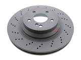 2114231112 Zimmermann Coat Z Disc Brake Rotor; Rear