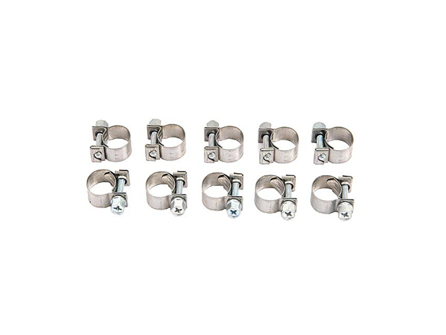 22013 ABA Fuel Hose Clamp; 12.5-15mm Range; 9mm Width; SET of 10