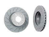 2204210912OE Genuine Mercedes Disc Brake Rotor; Front ; 312x28mm, Vented; Cross-Drilled