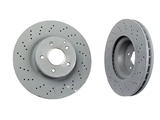2204212512OE Genuine Mercedes Disc Brake Rotor; Front; Vented 330x32mm; Cross-Drilled