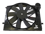 2205000093 Nissens Engine Cooling Fan Assembly; Assembly with Fan, Motor, and Shroud