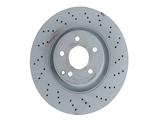 2214210612OE Genuine Mercedes Disc Brake Rotor; Front; Vented 335mm, Cross-Drilled