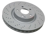 2214211012 Zimmermann Coat Z Disc Brake Rotor; Front; Vented 335mm, Cross-Drilled