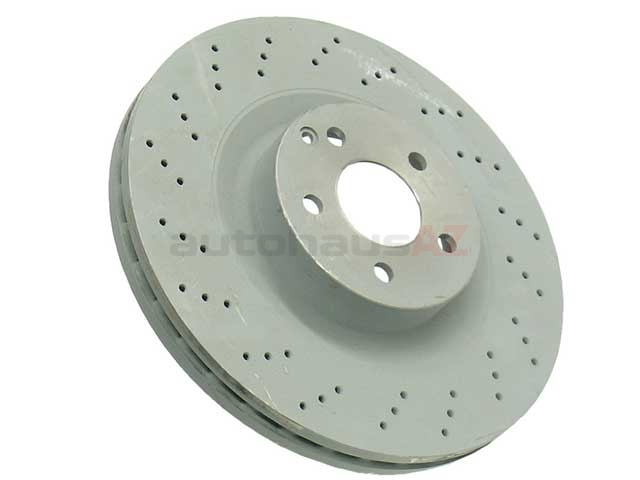 ADC1112V 2x Genuine Comline Front Vented Coated Brake Discs Set Pair