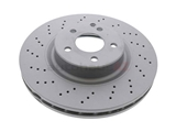 2304210512A Zimmermann Disc Brake Rotor; Front; Cross-Drilled 330 x 32mm