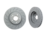 2304210812OE Genuine Mercedes Disc Brake Rotor; Front Cross-Drilled; 330 x 32mm