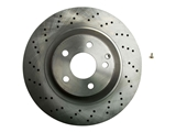 25763 Brembo Disc Brake Rotor; Front; Cross-Drilled; 345mm
