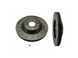 25785 Brembo Disc Brake Rotor; Front; Cross-Drilled