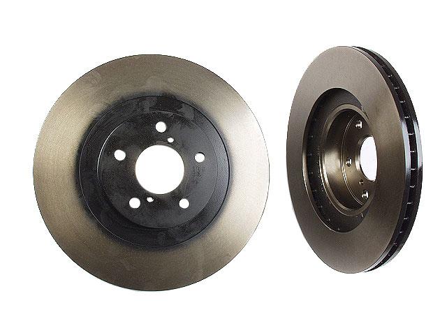 Set of 2 Front Disc Brake Rotor Meyle 40449044 for Saab 9-2X Subaru Impreza