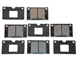 271739 Genuine Volvo Brake Pad Set; Front