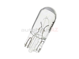 2825 Hella Multi Purpose Light Bulb; 12V/5W Glass Wedge Push-in Type