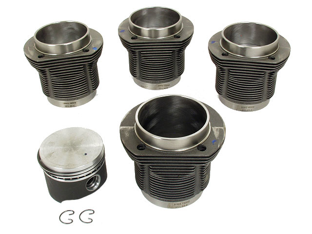 31119806990 Mahle Piston Set; 90.5mm Big Bore Set; Forged Pistons; SET of 4