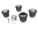 311198069F Mahle Piston Set; Set of 4 Standard 85.5mm; Flat; Compression Ratio 7.7:1