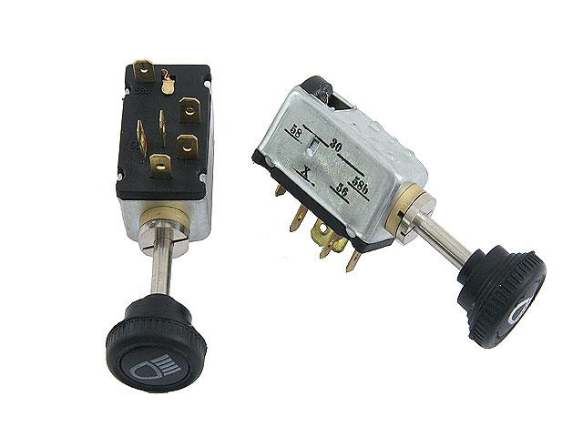 311941531A Aftermarket Headlight Switch; Round Original Style with 6 Wire Terminals