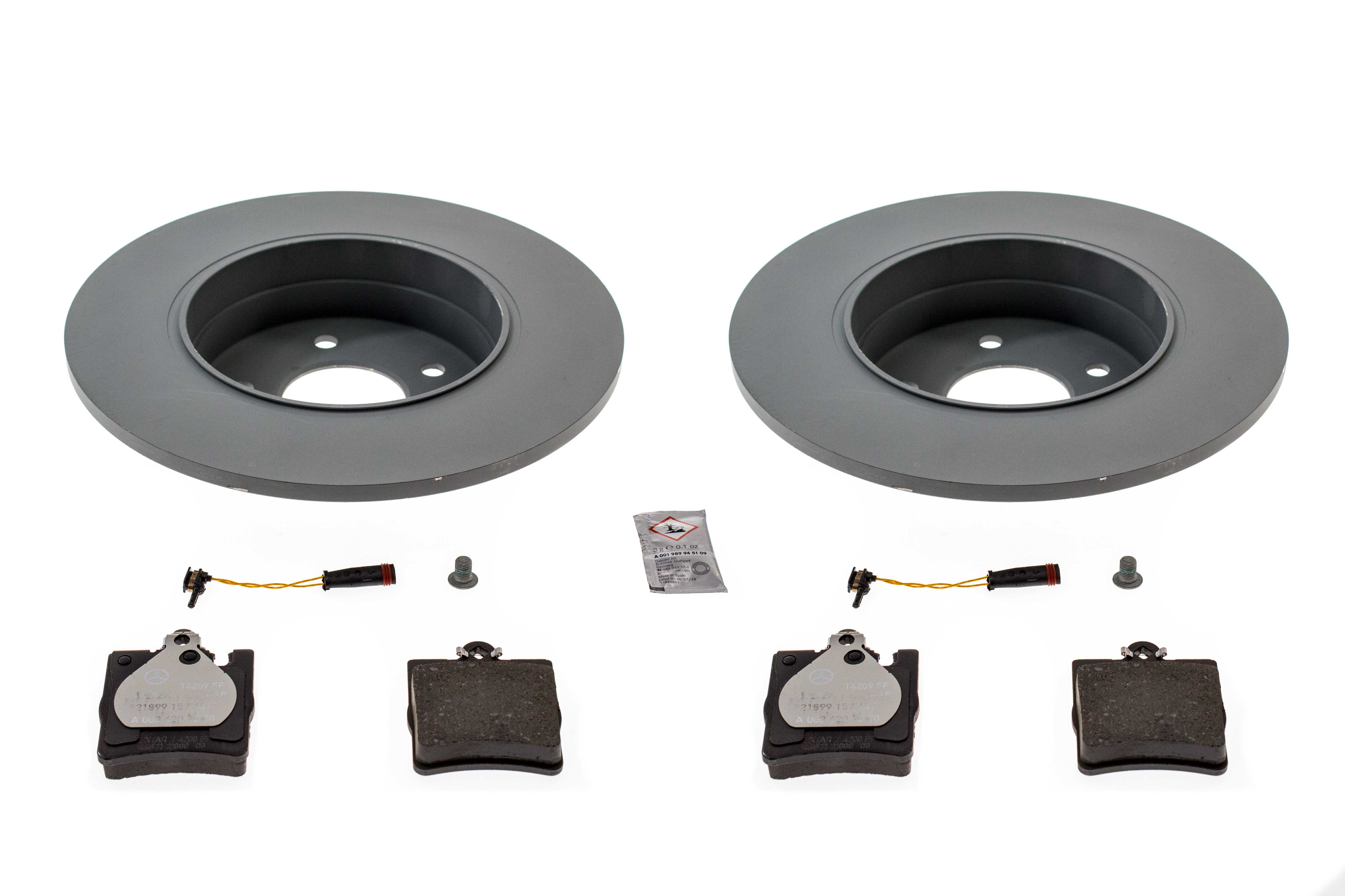 320350RRKIT AAZ Preferred Disc Brake Pad and Rotor Kit; Rear Brake Kit