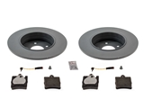 320350RRKIT Genuine Mercedes Disc Brake Pad and Rotor Kit; Rear Brake Kit