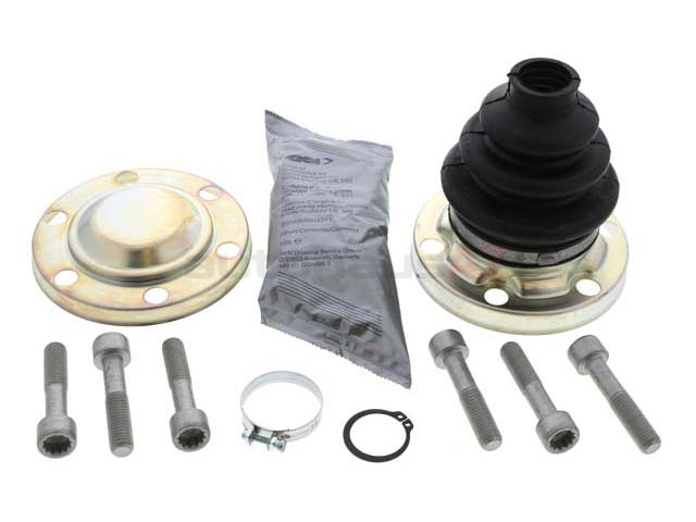 33219067812 GKN Loebro CV Joint Boot Kit; Rear Inner with Flange