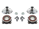 33411093371KIT AAZ Preferred Axle Bearing and Hub Assembly; Rear Left and Right, Mounting Bolts, Flanges, Axle Nuts; KIT