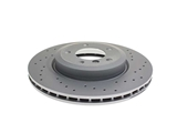 34101166071SP Zimmermann Coat Z Sport Disc Brake Rotor; Front; Vented 325x25mm; Cross-Drilled