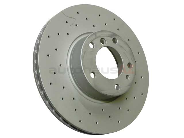 34111159895SP Zimmermann Sport Z X-Drilled Disc Brake Rotor; Front; Vented 324x30mm; Cross-Drilled