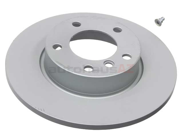 34111160673 ATE Coated Disc Brake Rotor; Front; Solid 286x12mm