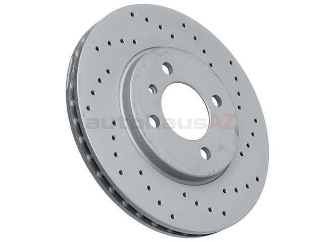 34111160915SP Zimmermann Sport Z X-Drilled Disc Brake Rotor; Front; Vented 260x22mm; Cross-Drilled
