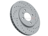 34111160915SP Zimmermann Coat Z Sport Disc Brake Rotor; Front; Vented 260x22mm; Cross-Drilled