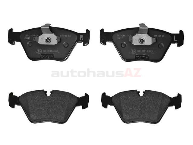 34111164627 Jurid Brake Pad Set; Front; OE Improved Compound