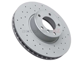 34111165859SP Zimmermann Coat Z Sport Disc Brake Rotor; Front; Vented 324x30mm