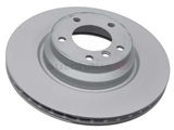 34116764645 Zimmermann Coat Z Disc Brake Rotor; Front; Vented 330x24mm