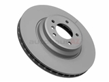 34116770729 Zimmermann Coat Z Disc Brake Rotor; Front; Vented 348x30mm