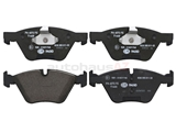34116771868 Hella Pagid Brake Pad Set; Front; OE Compound