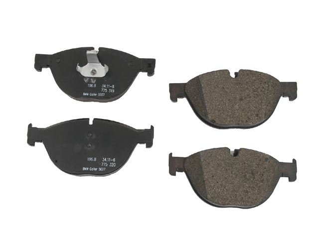 34116775322 Genuine BMW Brake Pad Set; Front