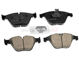 34116784129 Akebono Euro Brake Pad Set; Front, OE Compound